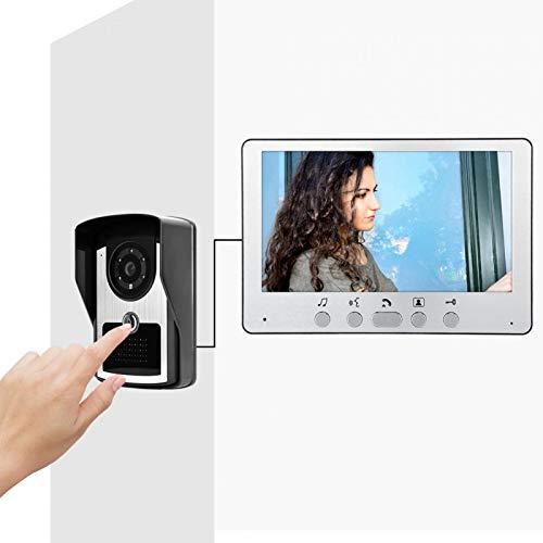 Timbre video, visión nocturna del timbre del intercomunicador 7 pulgadas para el apartamento para la oficina para el hogar(US regulations (110v-240v))