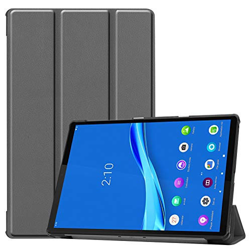 NUPO Hülle für Lenovo Tab M10 FHD Plus 10.3, Ultra Slim Cover Schutzhülle PU Lederhülle mit Standfunktion, Sleep Wake Up Funktion Kompatibel für Lenovo Tab M10 FHD Plus 10.3 TB-X606F, Grau