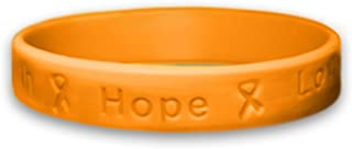 Fundraising For A Cause | Cancer Awareness Leukemia Bracelets - Orange Ribbon Cancer Awareness Silicone Bracelets for Adults
