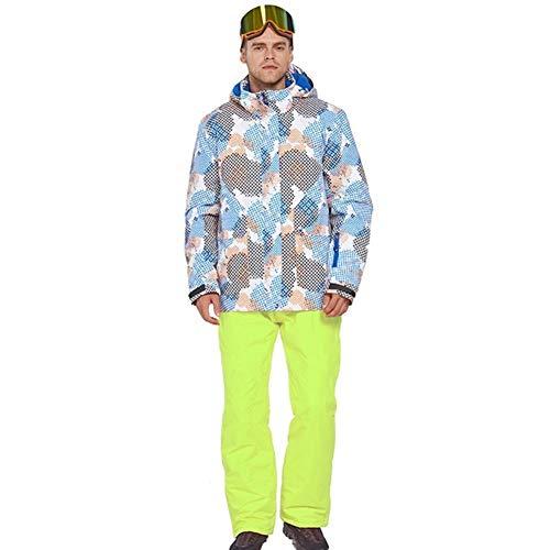 Minicocock Sci Vestito degli Uomini Traje De Esqui Hombre Terno Esqui Ropa De Eski Caldo e Antivento Impermeabile Inverno Suit Esterna Snowboard (Color : 8, Size : L)