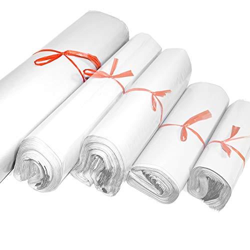ESTEXO 100 Versandtaschen aus LDPE-Folie mit sicherem Selbstklebeverschluss, Blickdicht, 5 Größen 60x70cm