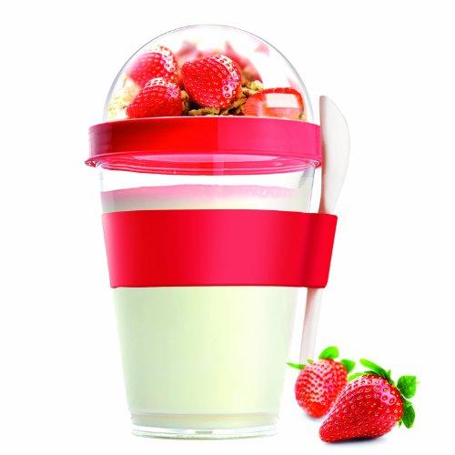 Asobu YO2GO Yogurt Container Red