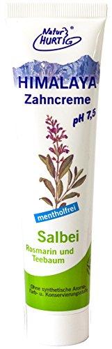 HIMALAYA Kräuterzahncreme Salbei-Rosmarin-Teebaumöl vegan von Natur Hurtig (3x75ml)