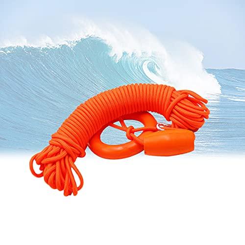 Línea Reflectante para Salvar Vidas, Fuerza de tracción Fuerte 30 m Cuerda Salvavidas Flotante Agua Profesional 4 mm diámetro para Piscinas Grandes Playas, Yates