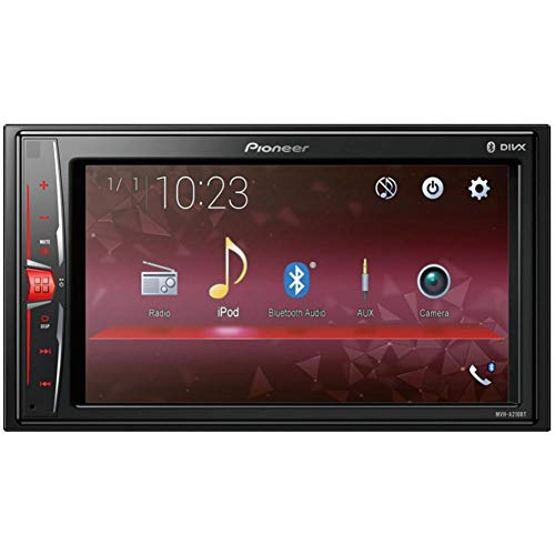Pioneer 1025926 Pantalla Doble DIN Multimedia y Bluetooth, Negro