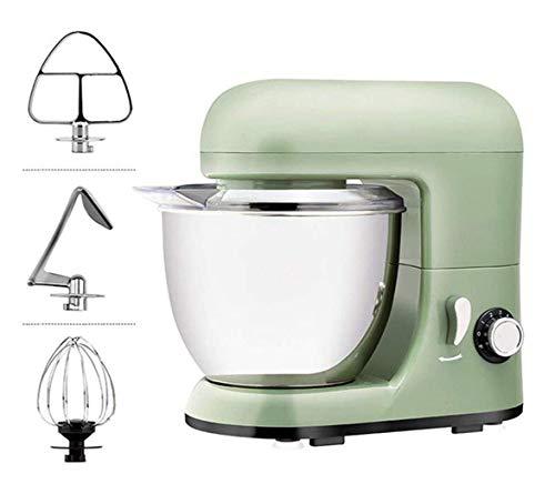 GPWDSN Küchenmaschine, 6-Gang-Kuchen Mixer Teig Maschine Mit 4L Rührschüssel Knethaken Mixer Chef Maschine Backautomaten Grün