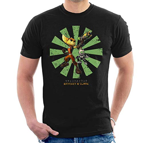 Ratchet and Clank Retro Japanese Men's T-Shirt