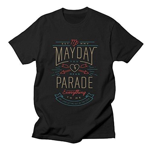 BOguan Mens T-Shirts May Seven Day par sevenade to me Short Sleeve Tees Large Black