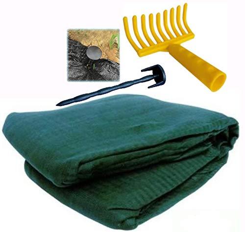 Telo rete raccolta olive antispina leggero Puglia con apertura angolo rinforzato occhiello Omaggi rastrello 10 Chiodi fermatelo mt 8x8)