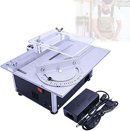 Portable Benchtop Table Saw, Table Saw Mini Thickened Countertop, Handmade Bench Lathe Precise Scale Laser Printing, Sliding Table Saw With Acrylic Board Transparent Protection ,Woodworking Cutting Ma