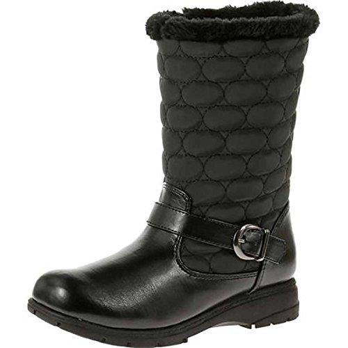 Hush Puppies Soft Style by Women's Pixie Boot, Black Vylon/Vitello, 5.5 M US