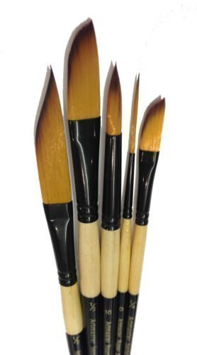 The Art Shop Skipton Artists Watercolour Brush Set , Sword Liner, Dagger, Rigger And Round Brushes