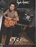 Magazine Print Ad: 2003 Dave Navarro, Jane's Addiction for PRS Paul Reed Smith Singlecut Trem Electric Guitar
