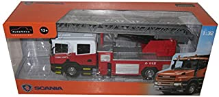Scania T380 Fire Truck with Manually Operational Ladder 1/32 by Automaxx 655101