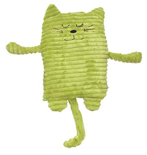 Inwolino 4038904087861 Inware 8718 - Wärmetier Katze, 17 x 26 cm, Füllung herausnehmbar, grün