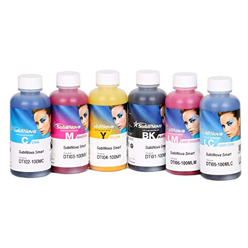 6 X 100ml Sublimation Ink, High Density Professional Sublimation Refill Inks Made in Korea, (for CISS). for Inkjet Printers, Heat Transfer on Mugs, t-Shirts, Phone Cases etc (6 Color)