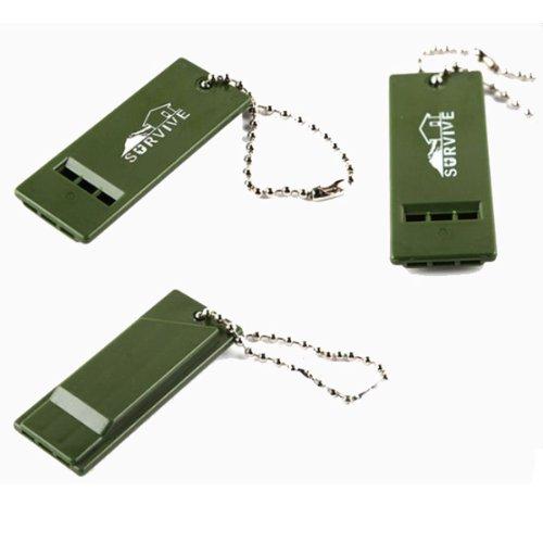 P4Ybg Extérieure d'outil de Survie PVC Multi-Audio Whistle Un Porte-clés