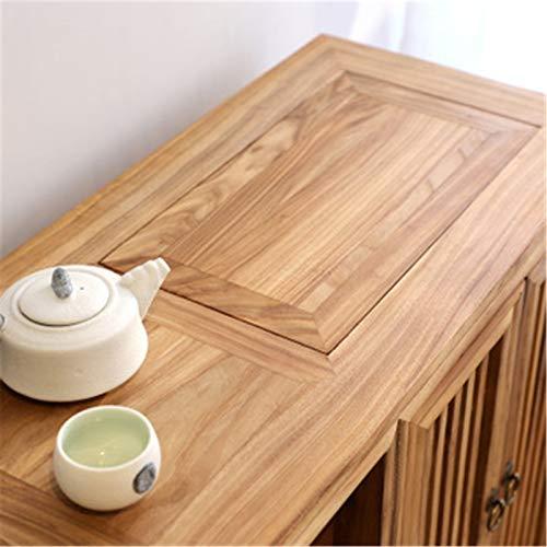 EXCLVEA Sideboard Teeschrank, Multifunktionales Schließfach, Wohnzimmer, Teeraum, Warmwasserbereiter, Tischseite, Neuer...