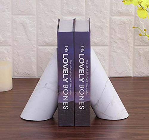 Kuku Get (White) Nordic Bookend Book by an Author Villa Model Room Decorations Study Desk Ornaments Marble Handicrafts 13 8 16cm Day