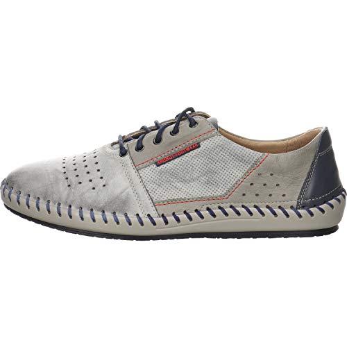 KRISBUT Herren 5200-2 Graue Glattleder Sneaker Größe 46 EU Mehrfarbig (Grau Kombination)