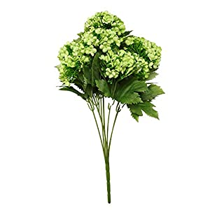 J.Summer Fake Flowers Vintage Artificial Hydrangea Silk Flowers Bouquets7 Heads for Home Table Centerpieces Wedding Party Decoration