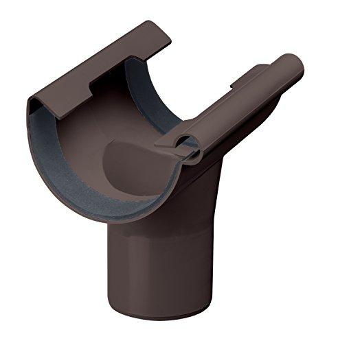 INEFA Ablaufstutzen DN 150/100, halbrund, Kunststoff, Regenrinne, Dachrinne