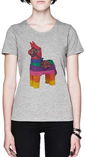 Gerald Grau Damen T-Shirt Größe L Grey Women's Tee Size L