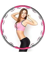 Aiweite Hula Hoop Reifen, Hula Hoop für Erwachsene & Kinder zur Gewichtsabnahme und Massage, EIN 6-8-Teiliger Abnehmbarer Hoola Hoop Reifen für Fitness/Training/Bauchmuskelkonturen