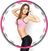 Aiweite Hula Hoop Reifen, Hula Hoop für Erwachsene & Kinder zur Gewichtsabnahme und Massage, EIN 6-8-Teiliger...
