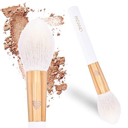 PAGANO Pinceau à poudre | Poils naturels | Pinceau pour le visage | Pour l'application de poudre, blush, surligneur | Pour le contour | Application sans traces & effet naturel | P064