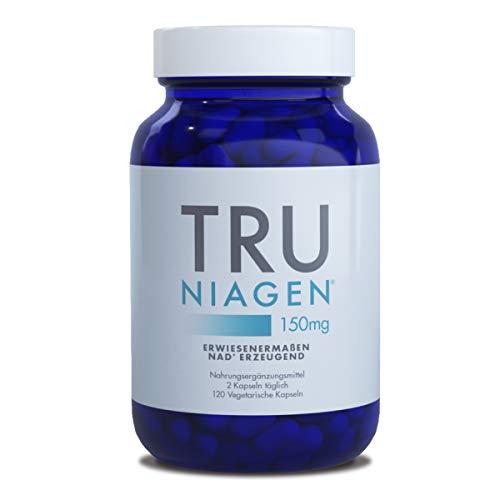 TRU NIAGEN Nicotinamide Riboside Chloride - Patentierter NAD-Vorläufer zur Verringerung von Müdigkeit und Erschöpfung, 150 mg vegetarische Kapseln, 150 mg pro Portion, 60-Tage-Flasche