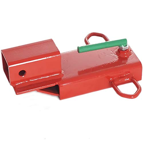 """Titan Attachments Clamp On Forklift Hitch Receiver Pallet Fork Trailer Towing Adapter 2"""" Insert"""