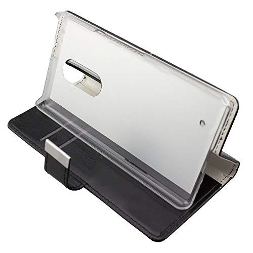caseroxx Handy Hülle Tasche kompatibel mit HP Elite X3 Bookstyle-Hülle Wallet Hülle in schwarz