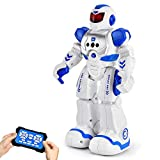 RC Robot for Kids Smart Robots Toys, Programmable Remote Control Robot Intelligent with Infrared Controller, Boys Girls Birthday Gift (Blue)