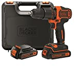 *Black+*Decker BDCHD18KB-*QW Trepant *Percutor sense accessoris, 18 W, 18 V, Negre, Taronja, 10 mm