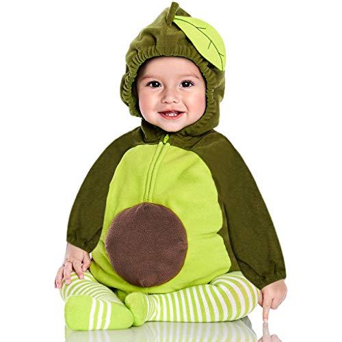 Pijama Ropa Traje Disfraz Aguacate Navidad Regalo bebé Mono Mono con Capucha niño niña niño Mono (6-12 Mes 80)