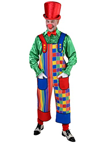 MAGIC BY FREDDYS Latzhose Clown Herren bunt Größe: 4XL/5XL