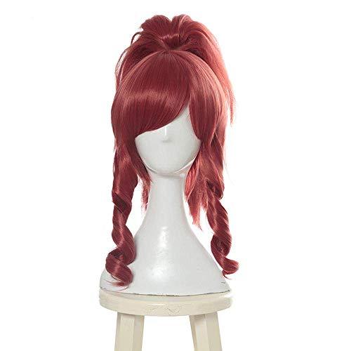 LOL KDA Akali Cosplay pelucas juego Prestige Edition K/DA Cosplay peluca púrpura cola de caballo resistente al calor pelo sintético