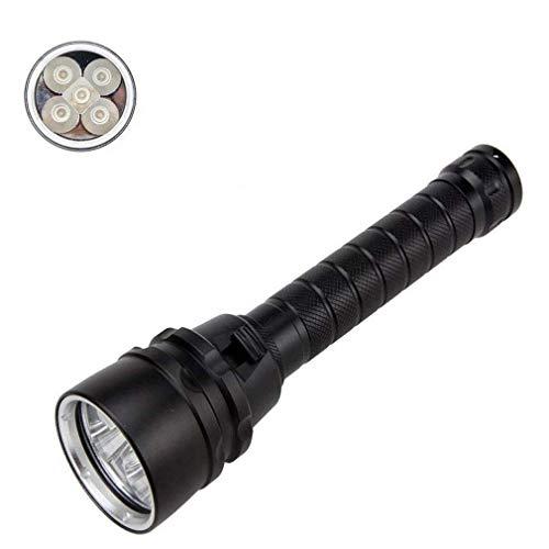 Preisvergleich Produktbild ZUZU Tauchen Taschenlampe,  Unterwasser-Sicherheits-Licht 100 M LED wasserdichte Taschenlampe 5 Lichtperlen geeignet für Outdoor-Unterwassersport Radfahren Schwarz