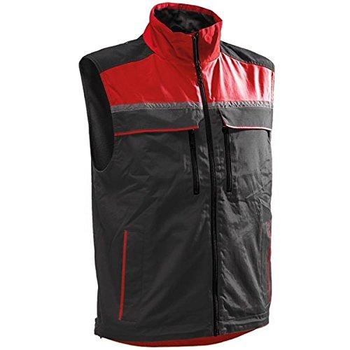Pfanner Jobby Colour Bodywärmer, Größe:M, Farbe:schwarz/rot