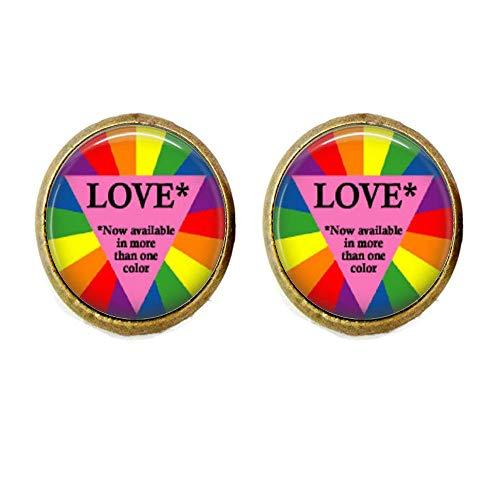 Vibrant Gay Pride Manschettenknöpfe, Equality,Love is Love,LGBT Regenbogen,Pro Gay Marriage,Schmuckgeschenk