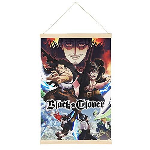 Black Clover Spade Kingdom Arc Japonés anime percha Cartel marco de oficina Scroll Posters lienzo decorativo pintura pared decoración habitación 24x36 pulgadas