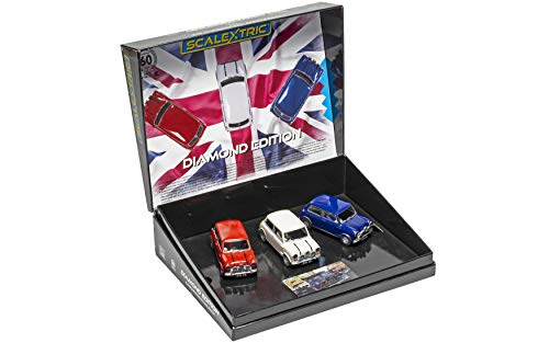 Scalextric Morris Mini Cooper Conmemorative Diamond Edition Pack 1: 32 Slot Race Cars C4030A,…