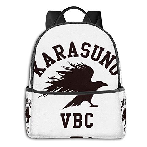 IUBBKI Mochila lateral negra Mochilas informales Anime & Karasuno Voleyball Club Student School Bag School Cycling Leisure Travel Camping Outdoor Backpack