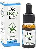 BioHempLife - 1000mg - (10%) - Estratto Di Canapa Naturale, Biologico Ed Essenziale Contro Stress, Ansia, Dolore Schiena - Aiuta A Dormire E Riposare Meglio