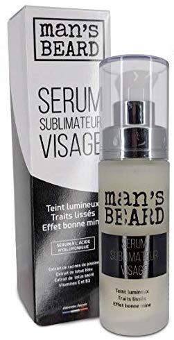 Man's beard - Fabrication Française - Sérum Sublimateur Visage 30 ml, composé d'actifs de dernière génération, formulé avec des liposomes afin d'optimiser la pénétration de actifs dans votre peau