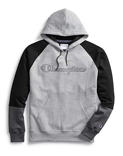 Champion Mens Powerblend Colorblock Hoodie, XXL