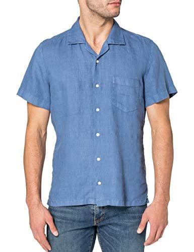 BOSS Rhythm 10169252 04 Camisa, Open Blue489, L para Hombre