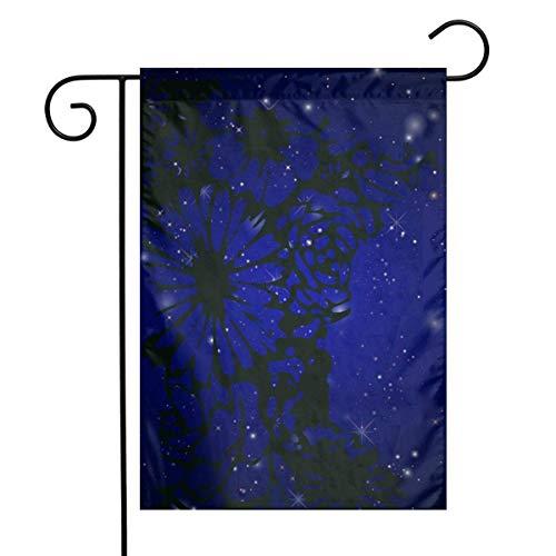 JGSGG11 Angelrute Clipart vertikale einseitige Polyester Gartenflagge Banner 30,5 x 45,7 cm