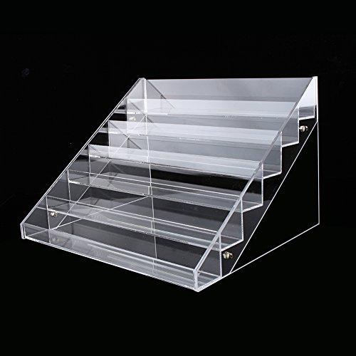 GOTOTOP 4/5/6 Etages Présentoir Support Rangement en Acrylique Transparent pour Vernis à Ongles (5 Etages)